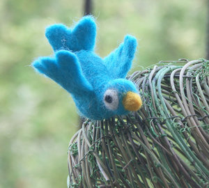 felt twitter bird by basia-hs on deviantART