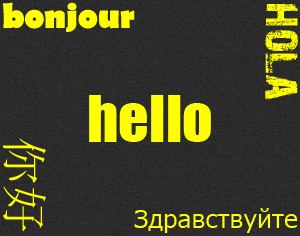 Hello in all languages